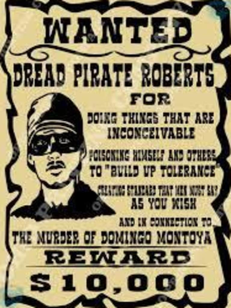 An example of how wanted posters used to look a long time ago.