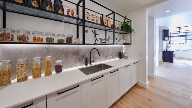 Inside their spacious butler's pantry.