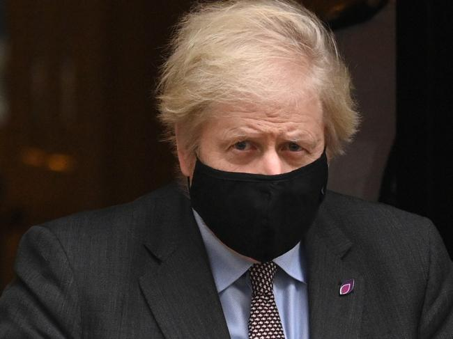 UK Prime Minister Boris Johnson is under pressure after the UK reported more than 100,000 COVID-19 deaths. Picture: Leon Neal/Getty Images