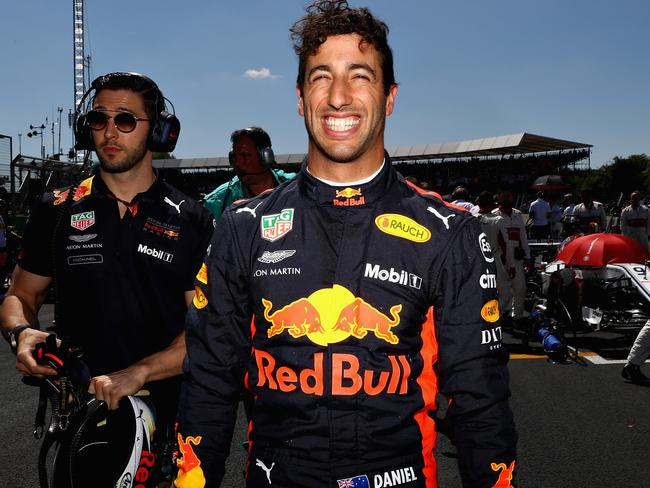 NORTHAMPTON, ENGLAND - JULY 08: Daniel Ricciardo of Australia and Red Bull Racing prepares to drive before the Formula One Grand Prix of Great Britain at Silverstone on July 8, 2018 in Northampton, England. (Photo by Mark Thompson/Getty Images)