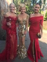 "Janet Roach, Gamble Breaux and Jakie Gillies ... ""Working it! I would call them bookends if I knew how to read! #tvweeklogies2017 @rhomelbourne @janetroachhw @jackiegilliestv"" Picture: Instagram"