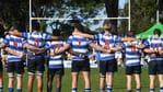 Nudgee College before the game. Picture: AAP image/John Gass