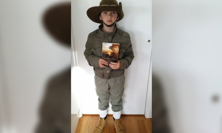 <b>SOLDIER BOY.</b> 10-year old Gabe put together his outfit from the wardrobe at home and the op shop. We LOVE it when costumes come together from everyday items. It shows creativity and we love how much Gabe thought outside the box!  <p><i>Image: supplied.</i></p>