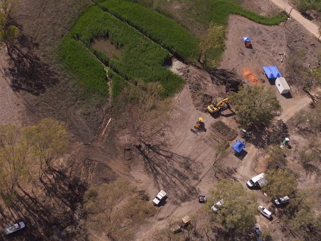 Police drained a dam and offered a $1 million reward for information. Picture: NSW Police