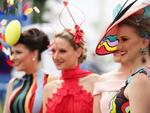 Racegoers enjoy the atmosphere on Emirates Melbourne Cup Day at Flemington Racecourse on November 7, 2017 in Melbourne, Australia. Picture: Matt King/Getty Images for the VRC