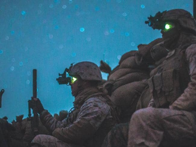 Increased visibility technology has helped US Marines in Afghanistan. Picture: Supplied