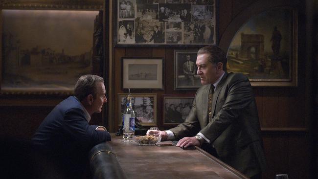 Joe Pesci (left) and Robert De Niro in The Irishman. Picture: Niko Tavernise/Netflix