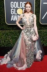 Model Barbara Meier attends The 75th Annual Golden Globe Awards at The Beverly Hilton Hotel on January 7, 2018 in Beverly Hills, California. Picture: Frazer Harrison/Getty Images