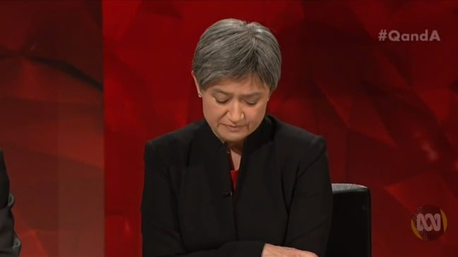 Penny Wong delivers 'emotional' message to Israel Folau (Q&A)