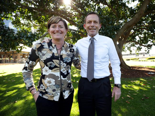 Family ties ... PM Tony Abbott's sister Christine Forster has been vocal about same-sex marriage.