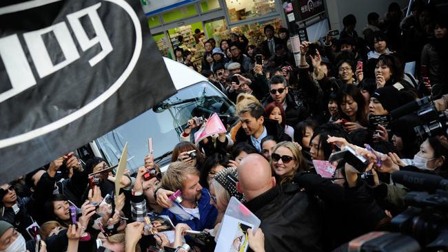 Lady Gaga was mobbed when she went shopping in Harajuku.
