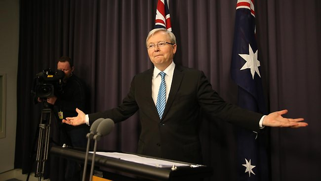 DTM Pub date: 29/06/2013 Page: 86 - 28/06/2013 NEWS: Prime Minister Kevin Rudd press conference in Parliament House in Canberra. Pic. Ramage Gary N24287440