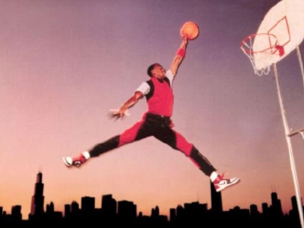 The Nike image that spurned the Air Jordan 'Jumpman logo'