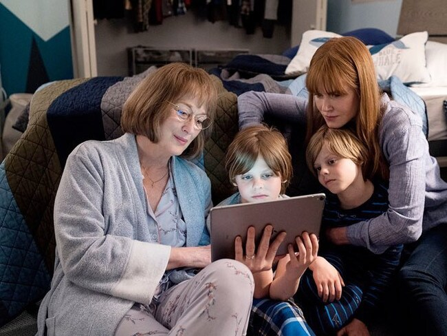 Meryl Streep and Nicole Kidman on set of Big Little Lies 2. Picture: Supplied