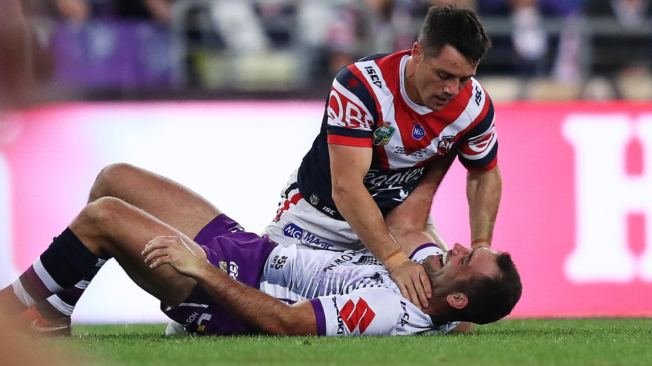Cooper Cronk and Cameron Smith will resume their battle that reached a peak during last year's grand final.