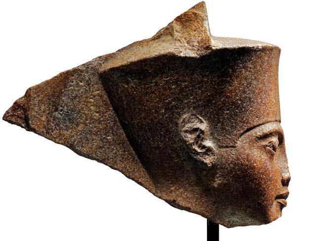 A 3,000-year-old stone bust of Tutankhamun.