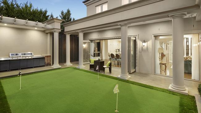 A putting green is a luxury addition.