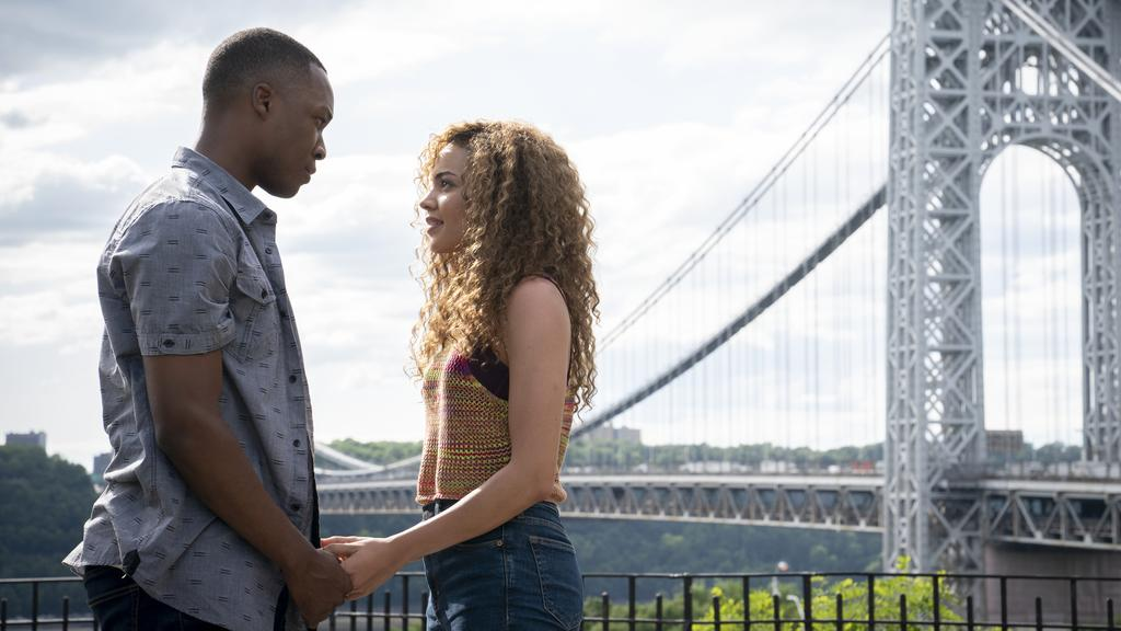 Corey Hawkins and Leslie Grace has the more effective romance story.