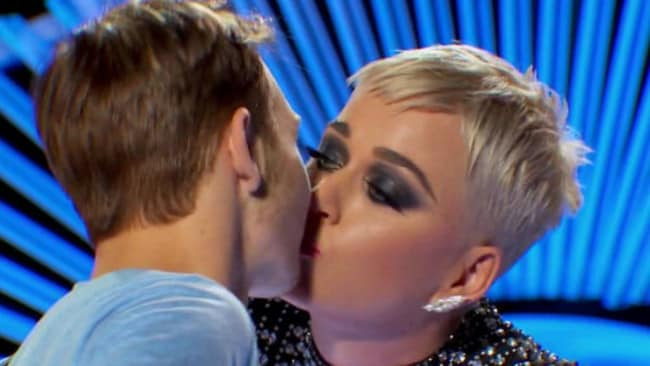 The young contestant Katy Perry kissed says it made him 'uncomfortable.'