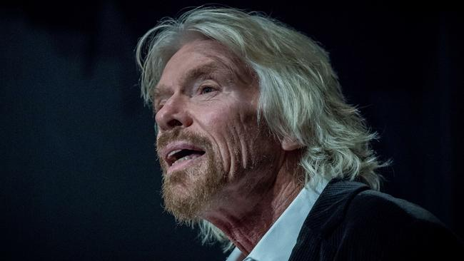 Sir Richard Branson at the release of the new film Guilty, which he partially funded. The film launched on World Day Against the Death Penalty. Picture: Jake Nowakowski