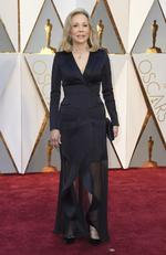 Faye Dunaway arrives at the Oscars on Sunday, Feb. 26, 2017, at the Dolby Theatre in Los Angeles. Picture: AP