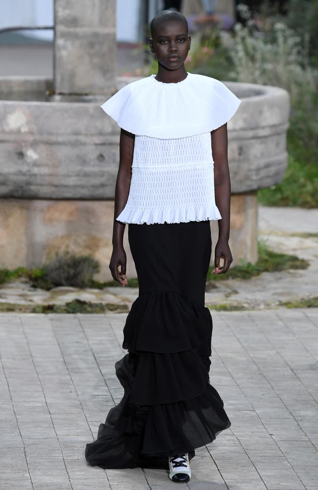 Adut Akech continued her runway reign, modelling for Chanel in Paris. Picture: Getty Images