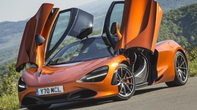 Exotic machine: The McLaren 720S costs more than $500,000 in Australia.
