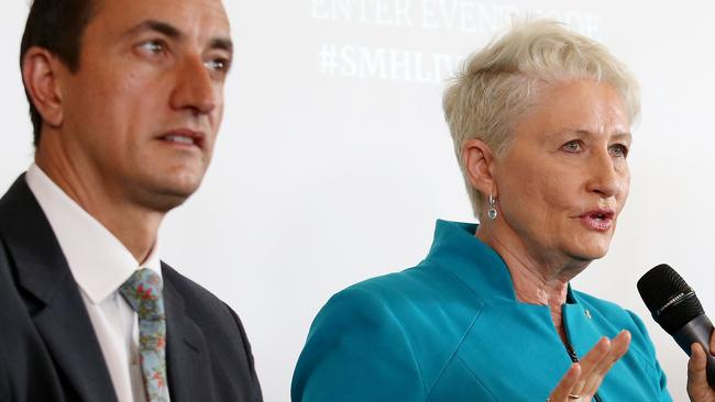 Rivals Dave Sharma and Kerryn Phelps.
