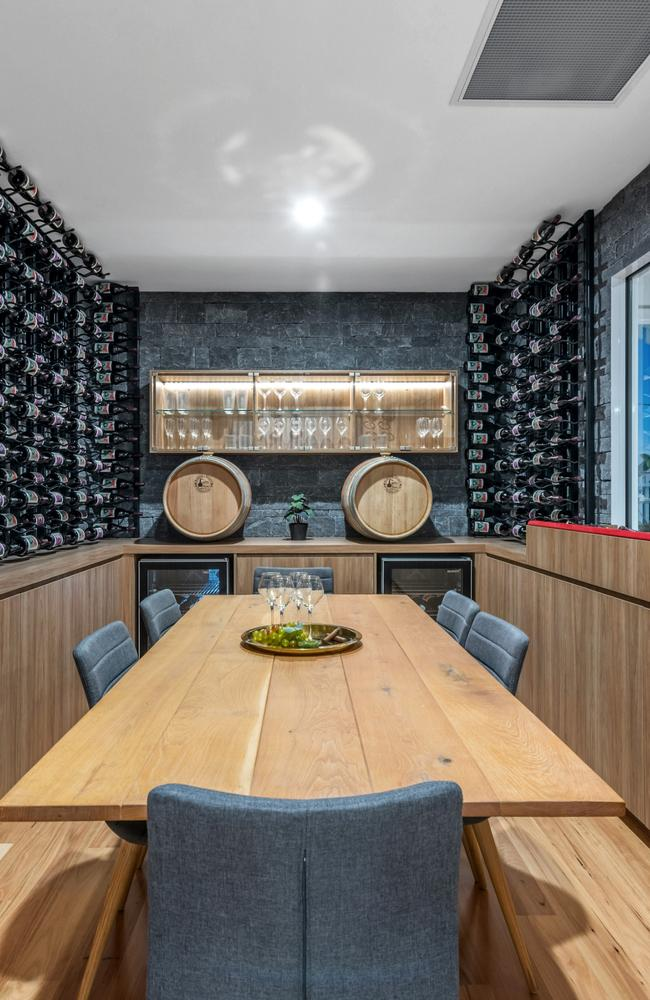 Wine lovers will enjoy the 2000-bottle cellar and tasting room that comes with this mansion.