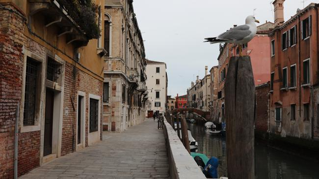Streets in Italy are whisper quiet amid the coronavirus lockdown. Picture: Marco Di Lauro/Getty Images.
