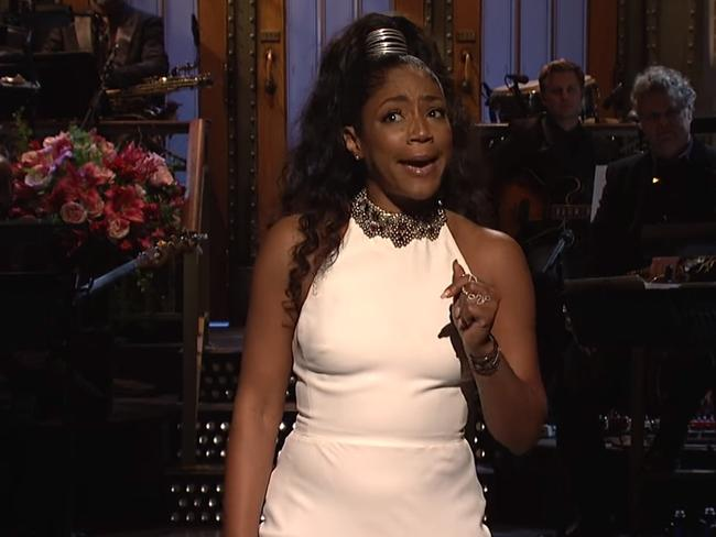 Haddish on SNL — we've seen that dress before.