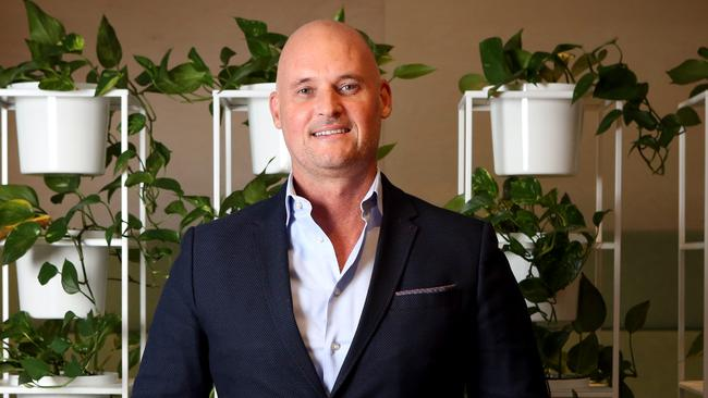 Realestate.com.au head of home loans Andrew Russell in his Sydney office. Picture: James Croucher