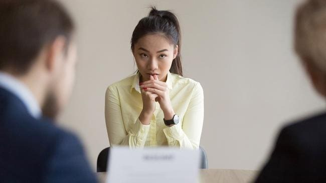 That moment at the interview when you remember you spelt 'the' as 'the' in the first paragraph of your CV. Picture: iStock