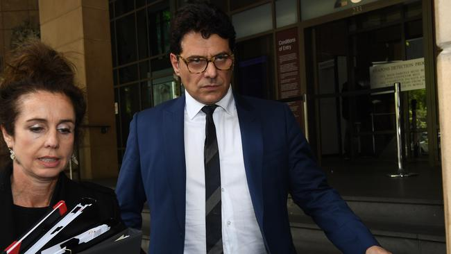 Vince Colosimo leaves the Melbourne Magistrates Court in November. Picture: AAP Image/Julian Smith