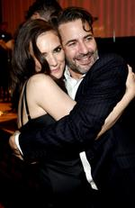 Winona Ryder and desinger Marc Jacobs attend the Marc Jacobs Spring 2016 fashion show during New York Fashion Week. Picture: Getty