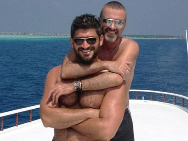 George Michael and Fadi Fawaz. Picture: Twitter