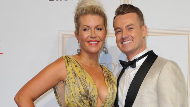 Grant Denyer with his wife Cheryl Denyer at the 2017 Logie Awards.