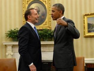 Abbott and Obama. Photo: News Australia
