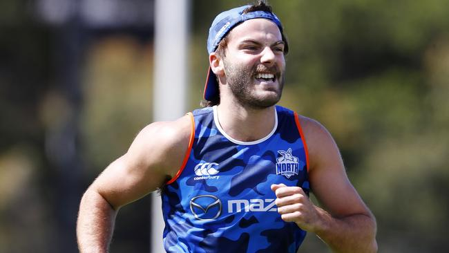 Luke McDonald was left out of North Melbourne's squad for its final pre-season game for disciplinary reasons, it has been revealed. Pic: Michael Klein