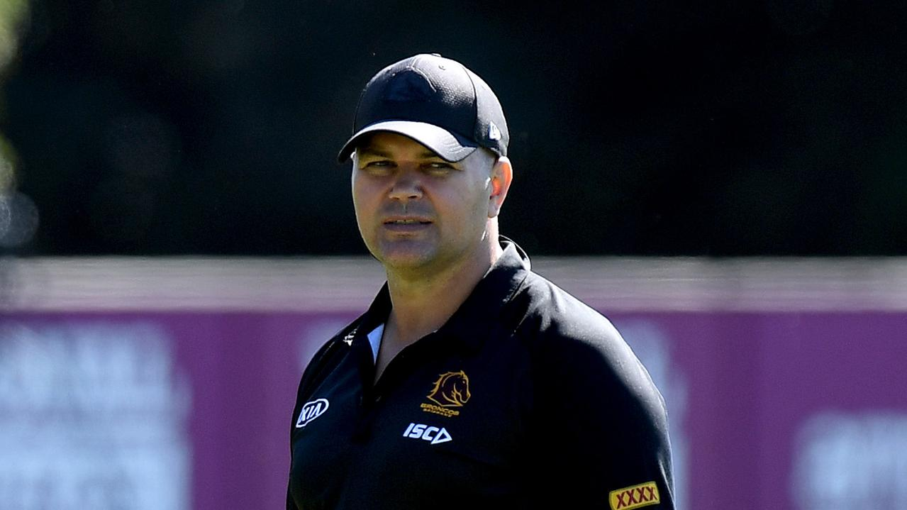 Brisbane coach Anthony Seibold is copping heat for his side's woeful performance against the Roosters.
