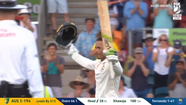 Usman Khawaja brings up a brilliant century in Canberra