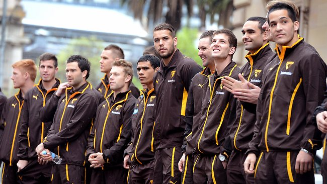 Grand Final parade,Lance Franklin in the middle, Picture: Wayne Ludbey