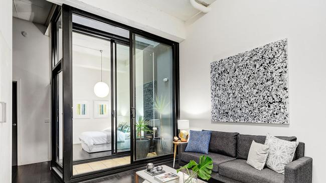 The Collingwood conversion created two bedrooms, two bathrooms and two living areas.