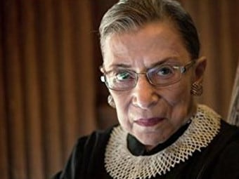 Ruth Bader Ginsburg is among the more liberal justices on the court, which is now split in favour of conservatives. Picture: