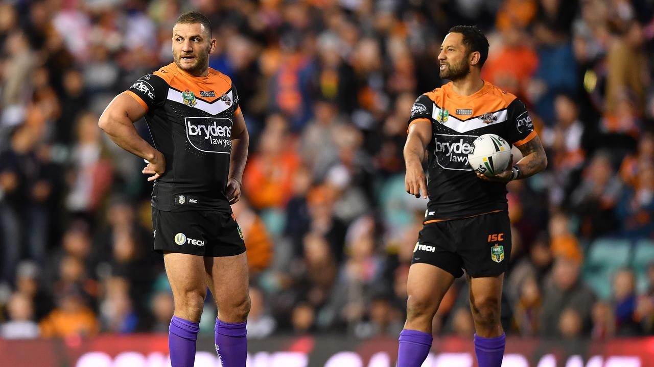 After time apart, Farah and Marshall reunited at the Wests Tigers in 2018.