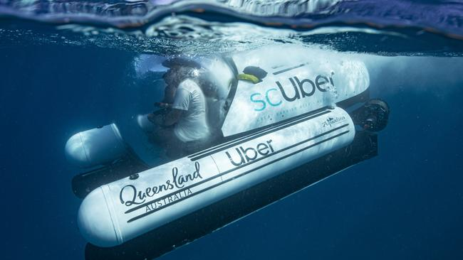 The new ScUber will take you underwater.