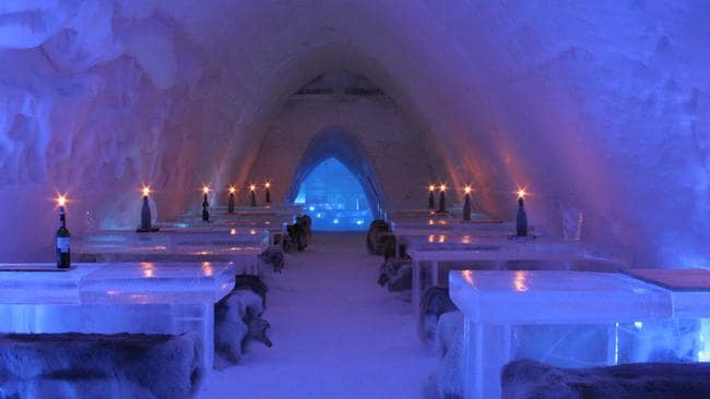 Cool off ... whether you want to or not at Icebar in Finland. Picture: Supplied