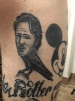 My shit tattoo submission of Russell Crow. Geddit? Mitch Payne