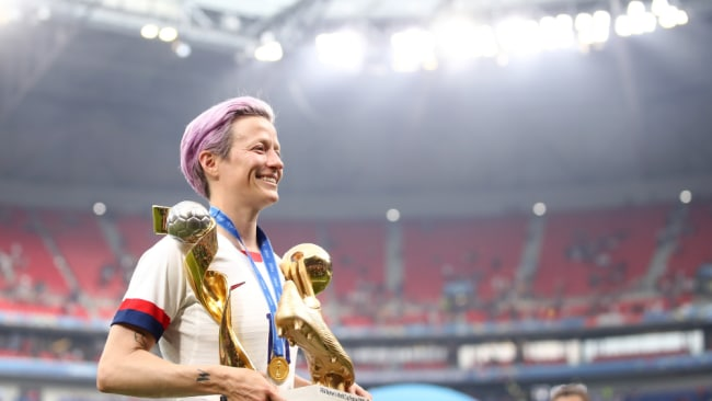 Megan Rapinoe, a player for the US team, has been outspoken against the current pay gap. Image: Getty