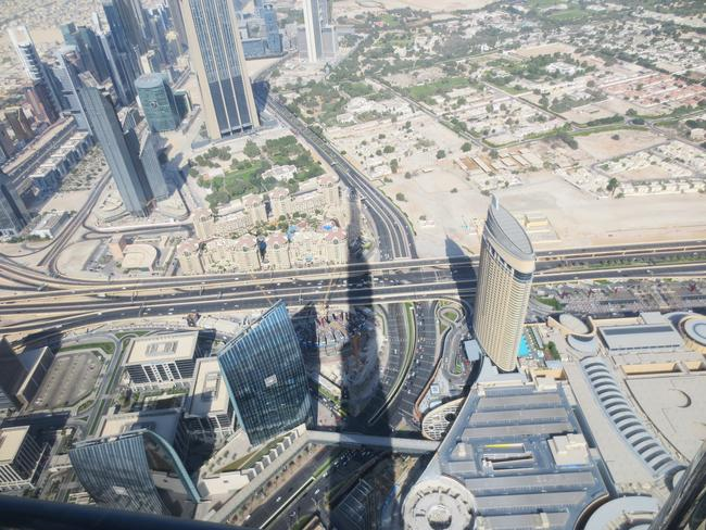 High above Dubai. Picture: Kate Schneider